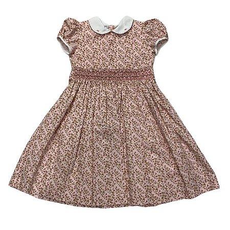 UPIÁ vestido casinha de abelha rosa florzinhas 6 anos