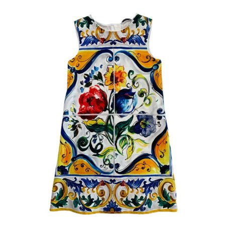 DOLCE GABBANA vestido estp azulejo português 6 anos