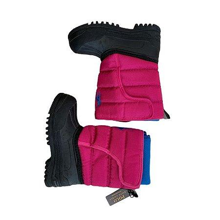 RALPH LAUREN bota de neve rosa e azul USA 10 BRA 26