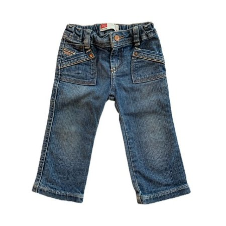 DIESEL calça jeans bolso tesoura 12 meses