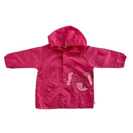I PLAY capa de chuva rosa elefante 6-12 meses