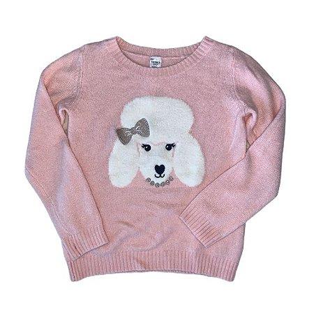 CARTERS casaco lã rosa estp poodle 6 anos