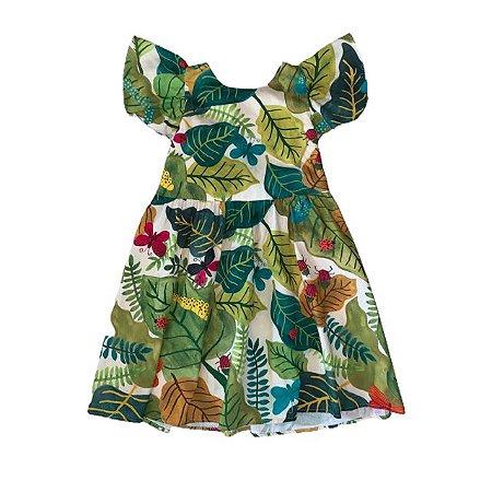FÁBULA Vestido algodão estp borboleta e joaninha 8 anos