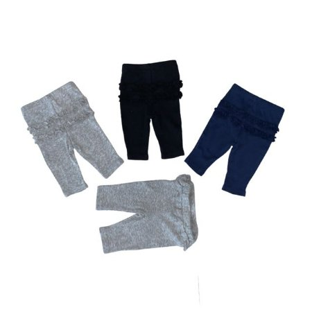 CARTERS kit 4 legging c babados NB