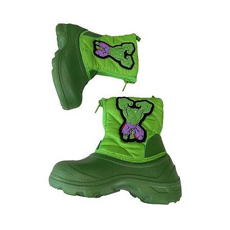DISNEY bota verde Hulk USA 7 BRA 22