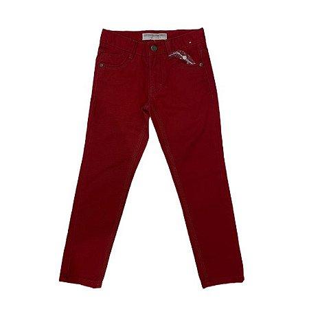 ZARA calça de sarja vermelha 4-5 anos NOVA