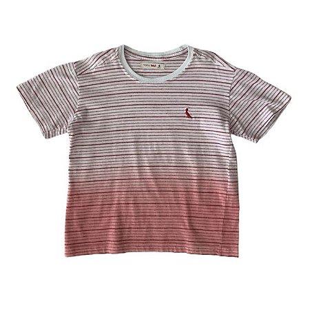 RESERVA MINI camiseta listras vermelhas 4 anos