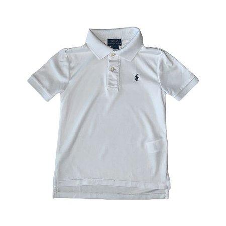 RALPH LAUREN camisa polo branca dry fit 5 anos