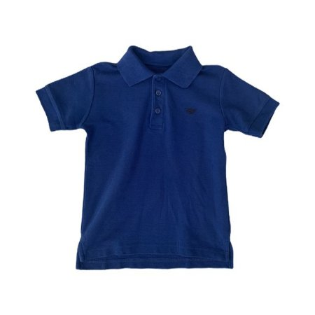 ARMANI JUNIOR camisa polo azul royal 4-6 anos