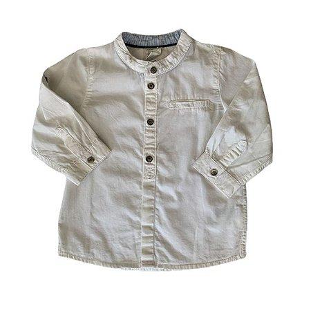 H&M camisa social branca gola padre 6-9 meses