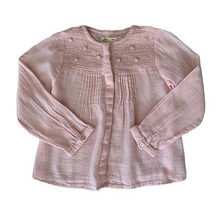ZARA bata de algodão rosa 2-3 anos
