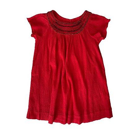 BONPOINT vestido vermelho 6 anos