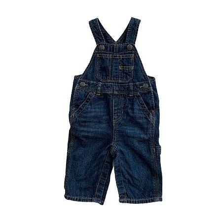 BABY GAP jardineira jeans 6-12 meses