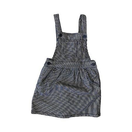 BABY GAP jardineira jeans listras 3 anos