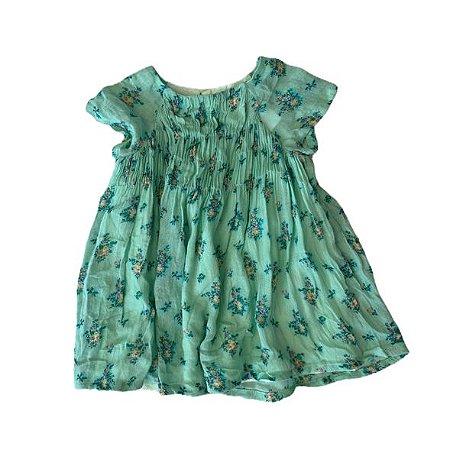 ZARA vestido verde florido 6-9 meses