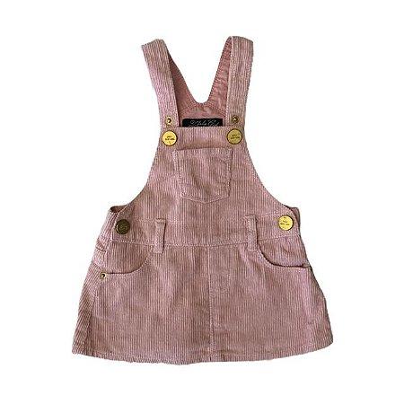 ZARA jardineira/saia de veludo rosa 3-6 meses