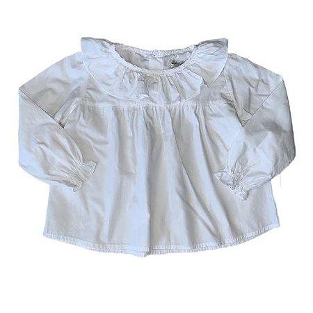 UPIÁ bata algodão branca 1 ano