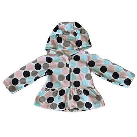 CARTERS casaco capuz soft bolas coloridas 18 meses
