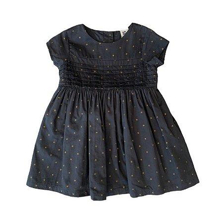 OSHKOSH vestido algodão c calcinha preto estrelas douradas 18 meses 6