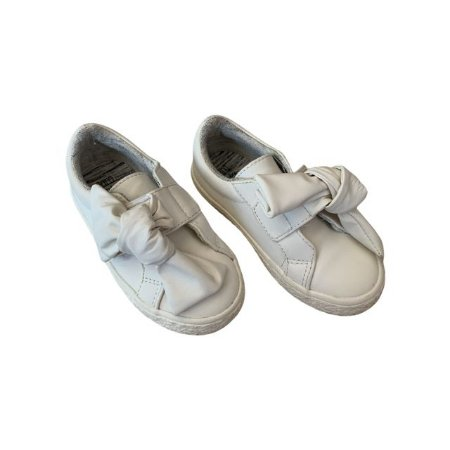 ZARA tênis laço couro branco BRA 24
