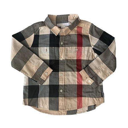 BURBERRY camisa social xadrez 18 meses
