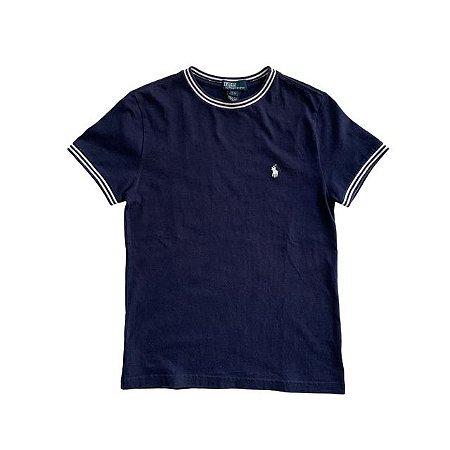 RALPH LAUREN camiseta marinho 8 anos