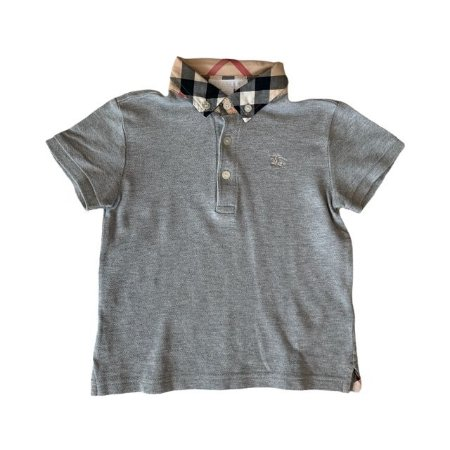 BURBERRY camisa polo cinza 4 anos