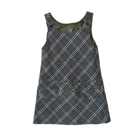 ZARA vestido flanela xadrez verde tipo veste 3-4 anos