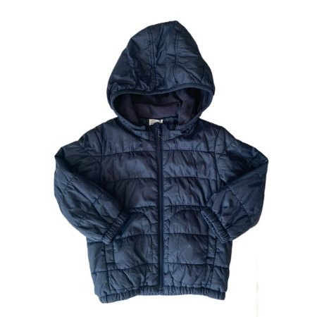 UNIQLO casaco nylon c capuz marinho 3 anos