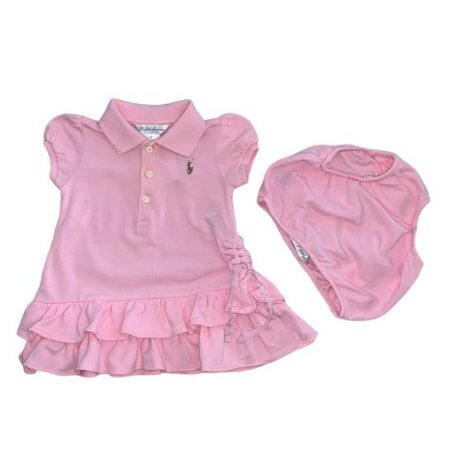 RALPH LAUREN vestido polo rosa c calcinha 3 meses