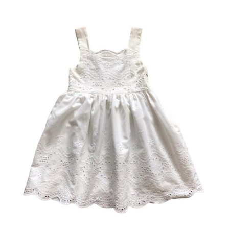 FÁBULA vestido offwhite bordado inglês 2 anos