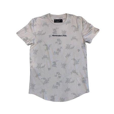 ABERCROMBIE camiseta bege folhas S 13-14 anos