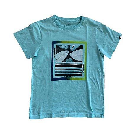 QUIKSILVER camiseta azul clara GG 13-14 anos