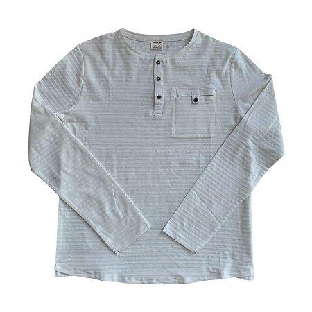 ZARA camiseta mg longa offwhite 13-14 anos