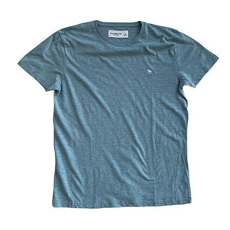 ABERCROMBIE camiseta verde mescla S 13-14 anos