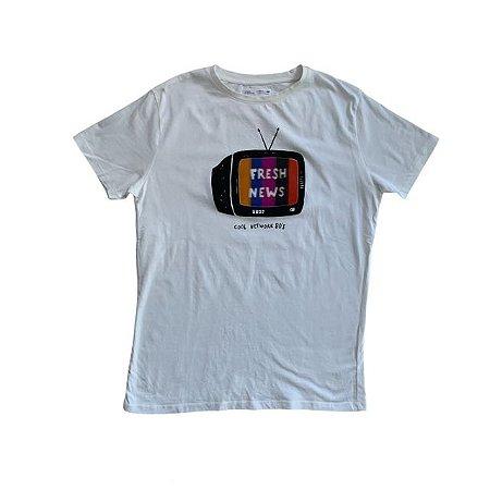 ZARA camiseta branca TV 13-14 anos
