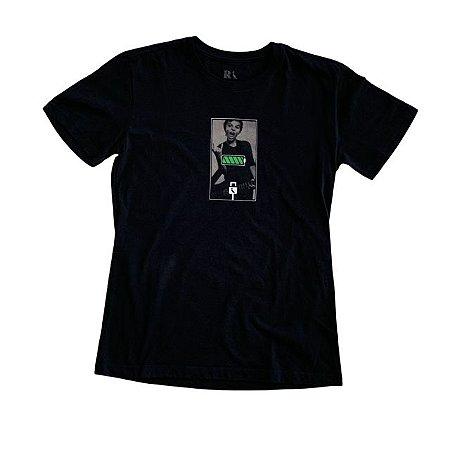 RESERVA MINI camiseta preta bateria verde 12 anos