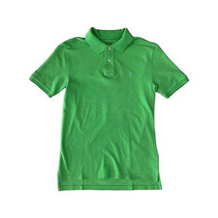 RALPH LAUREN camisa polo verde 10-12 anos