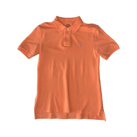 RALPH LAUREN camisa polo laranja 10-12 anos