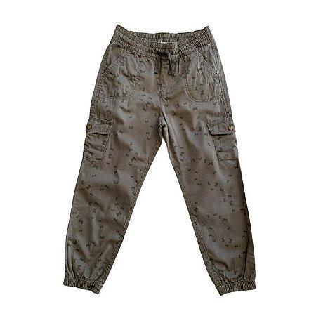 HM calça sarja bomber verde estp laços 5-6 anos