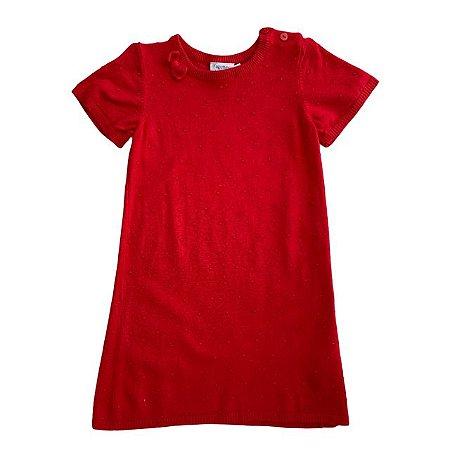 FAGOTTINO vestido de linha vermelho 2-3 anos