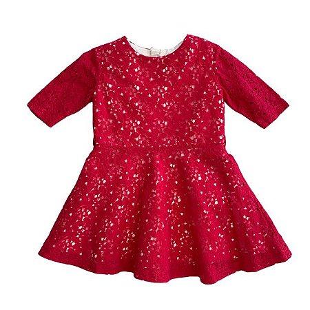 PAOLA DA VINCI vestido de renda pink 2 anos