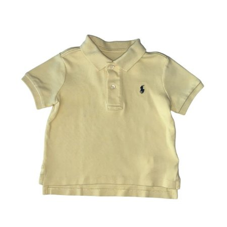 RALPH LAUREN camisa polo amarela 12 meses
