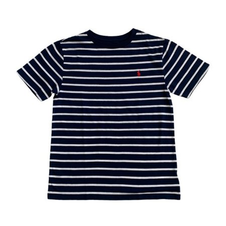 RALPH LAUREN camiseta marinho listras brancas 10-12 anos