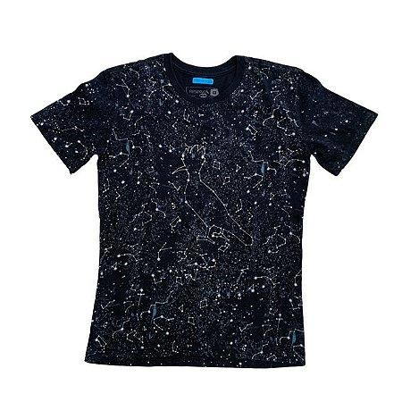 RESERVA MINI camiseta preta constelações 12 anos