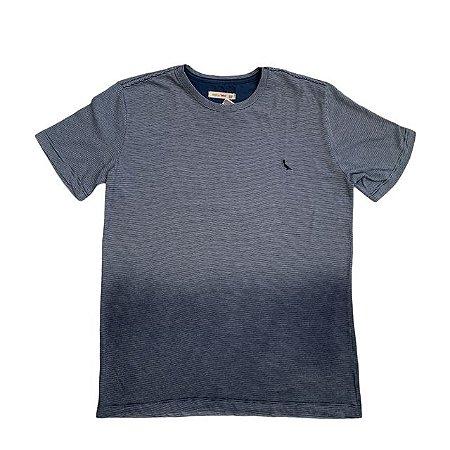 RESERVA MINI camiseta marinho listras finas degradê 12 anos