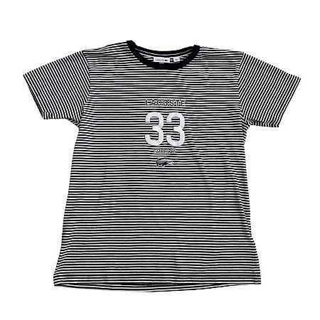 LACOSTE camiseta marinho listras 33 14 anos
