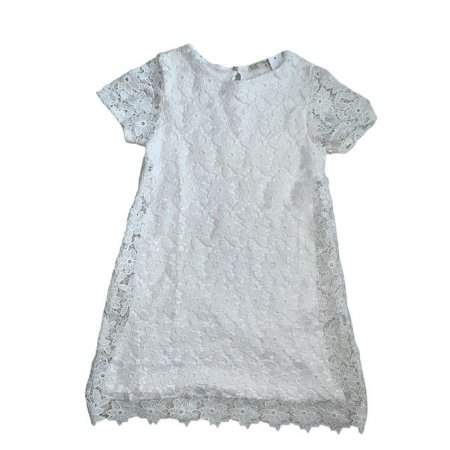 ZARA vestido branco renda  9-10 anos