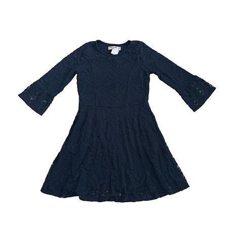 ABERCROMBIE vestido marinho renda mg longa 9-10 anos