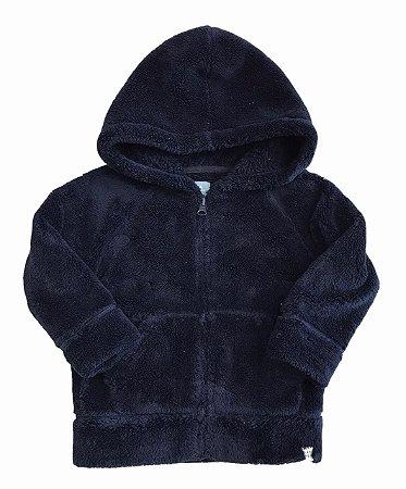 BABY GAP casaco soft felpudo marinho c capuz 2 anos